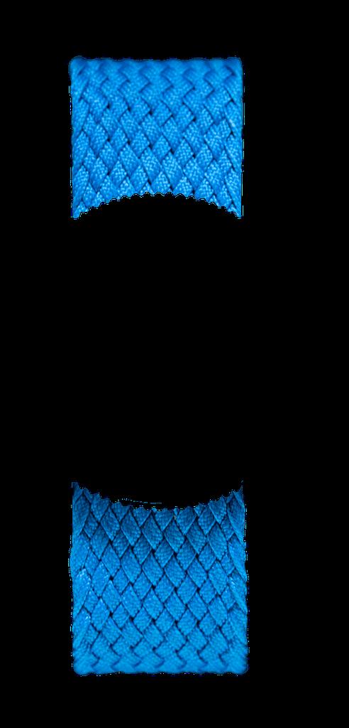Blue Braided Perlon NATO
