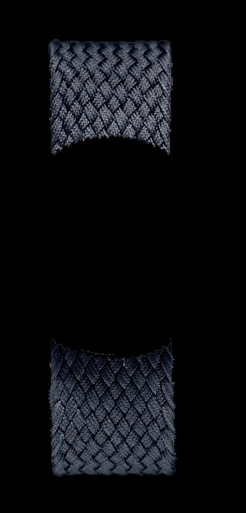 Black Braided Perlon NATO