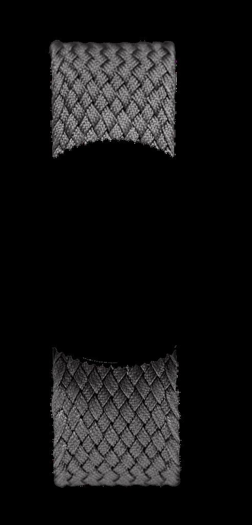 Grey Braided Perlon NATO