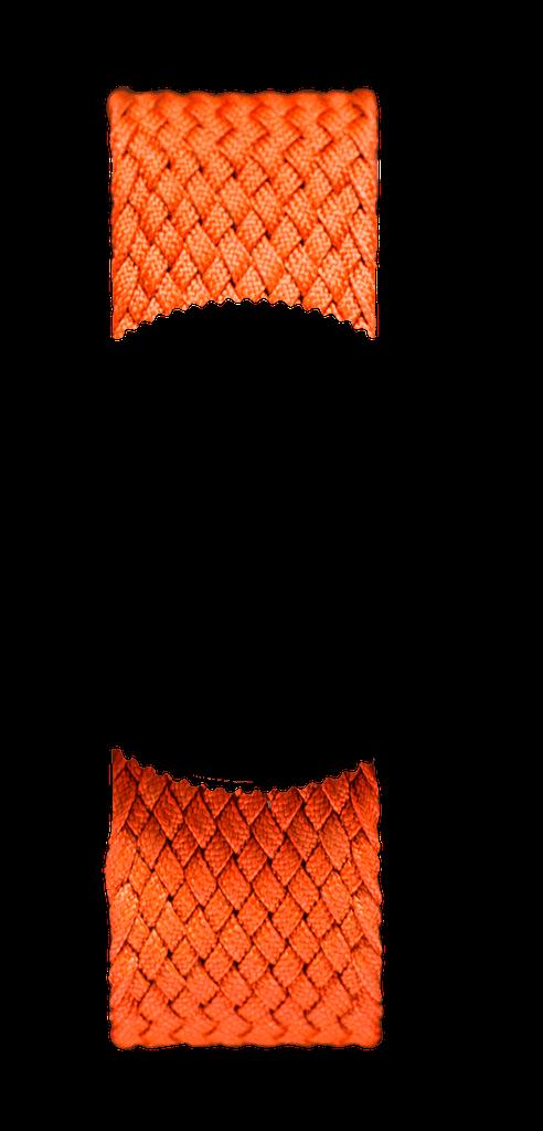 Orange Braided Perlon NATO