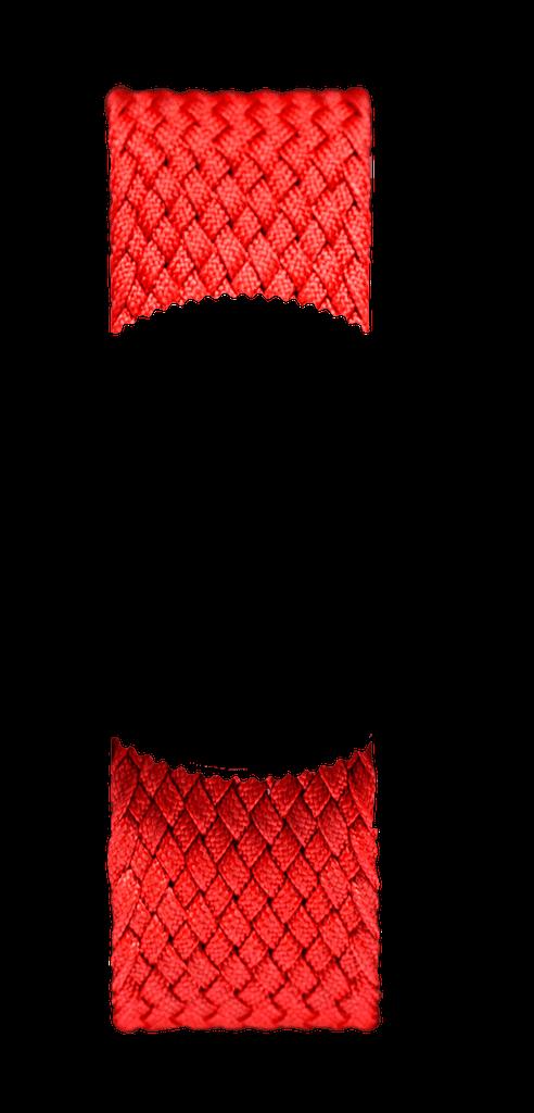 Red Braided Perlon NATO