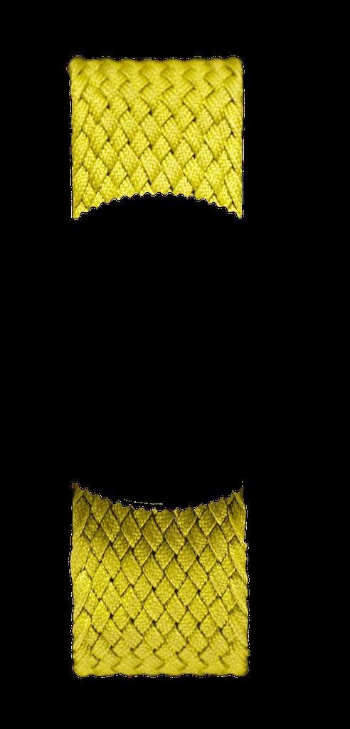 Yellow Braided Perlon NATO