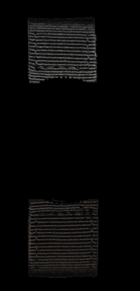Black 2 Piece Fabric Zulu with Black Buckle