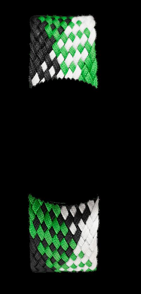 Green and Black Braided Perlon NATO